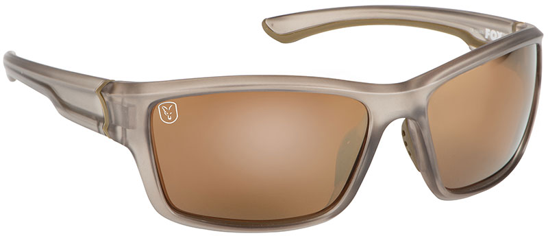 Fox Avius Wraps Sunglasses - Trans Khaki Frame - Brown Lens